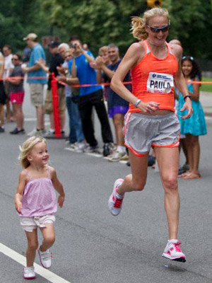 Paula Radcliffe - World Record Holder in the Marathon - and mom